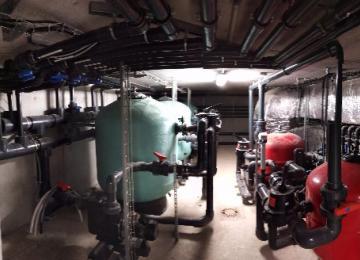 AQUASET, système de filtration piscine collective, SAINT TROPEZ