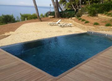 piscine béton Autre vue, piscine ouverte